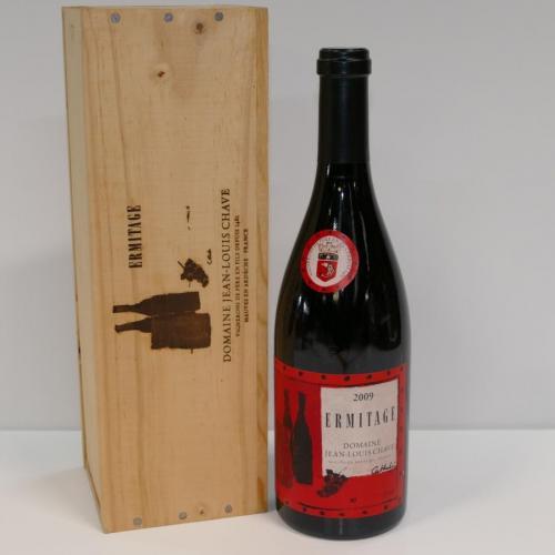 1 Btle Ermitage Cuvée Cathelin 2009 Domaine Jean-Louis Chave en coffret bois En parfait état  / Adjugé 6000€ soit 7607,76€TTC